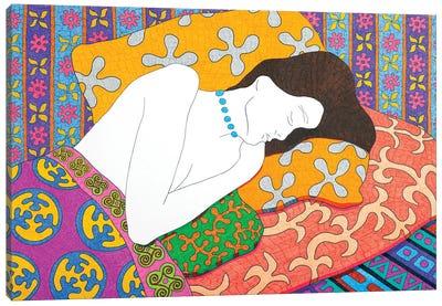 Sleeping With Beads Canvas Art Print