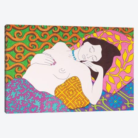 Sleeping With Pink Nails Canvas Print #DKZ47} by Daniel Kozeletckiy Canvas Print