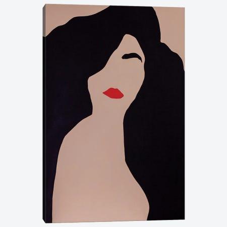 Burning Brunette Canvas Print #DKZ6} by Daniel Kozeletckiy Canvas Print