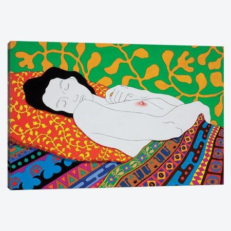 Sleeping With The Nipple Canvas Print #DKZ70} by Daniel Kozeletckiy Canvas Art Print