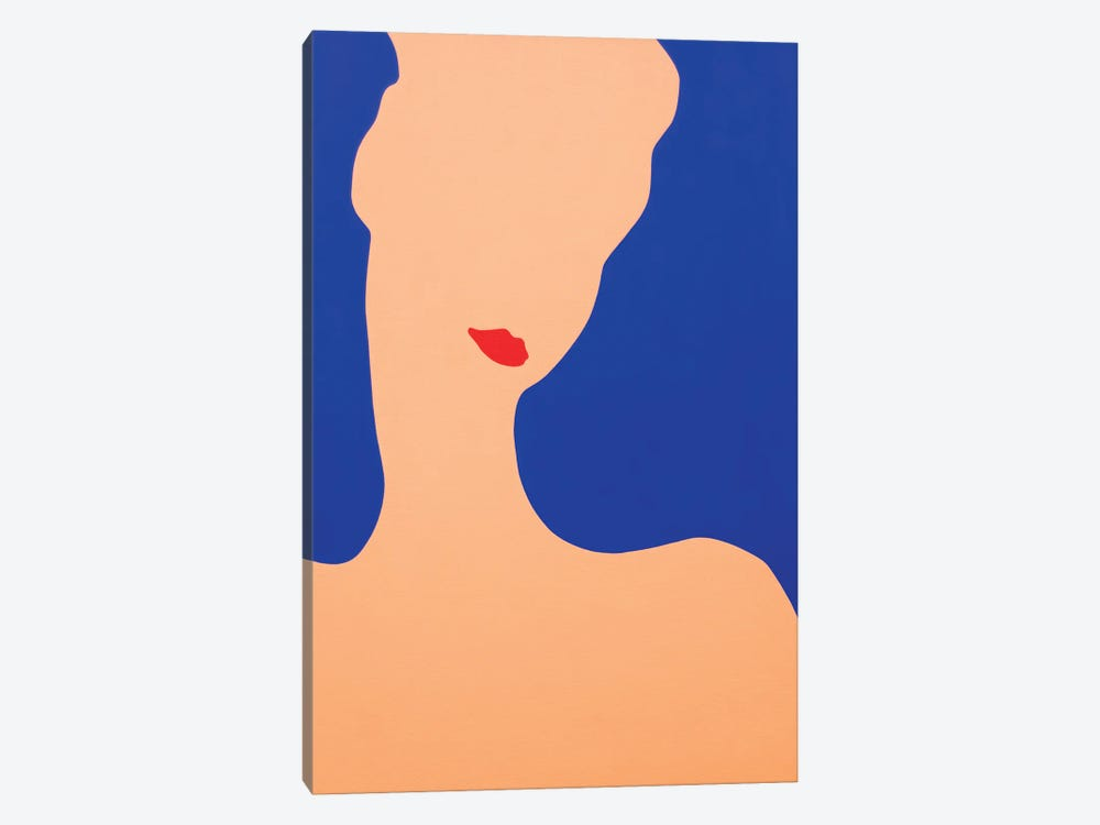 Young Lady With Red Lips by Daniel Kozeletckiy 1-piece Canvas Wall Art