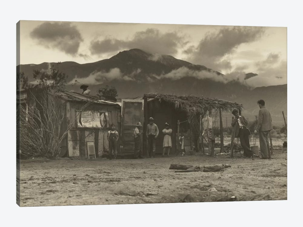 Paul Schuster Taylor Talking With Migrant Workers, Imperial Valley, California, USA by Dorothea Lange 1-piece Canvas Art