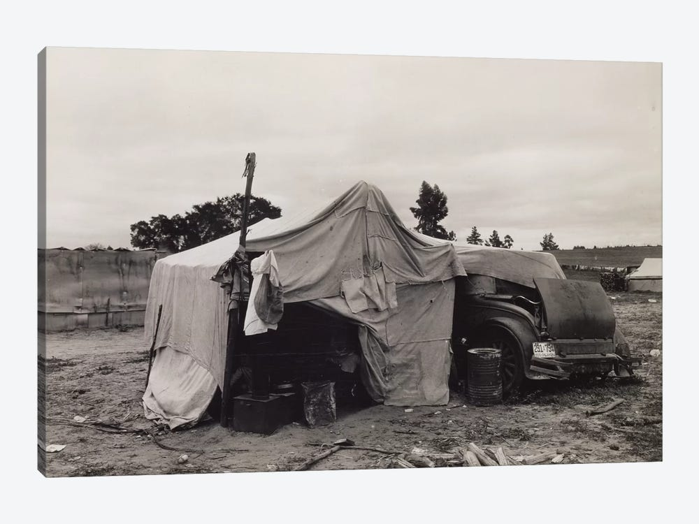 Pea Picker's Home,Nipomo, California, USA by Dorothea Lange 1-piece Canvas Art Print