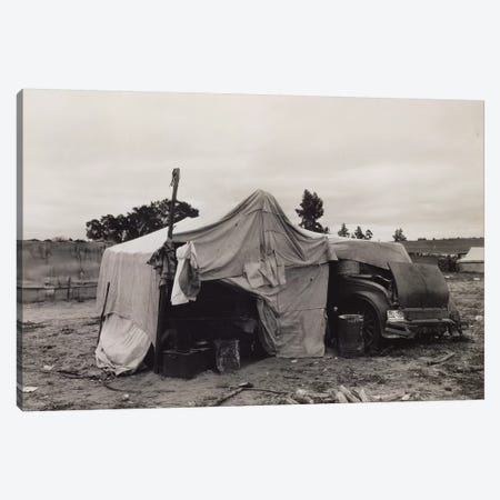 Pea Picker's Home,Nipomo, California, USA Canvas Print #DLA11} by Dorothea Lange Canvas Print