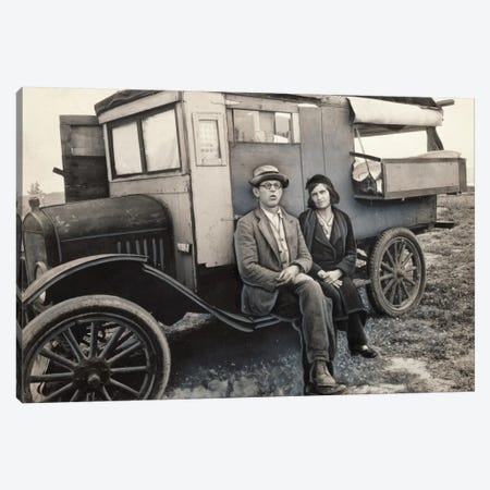 Pea Pickers In California (Mam, I've Picked Peas From Calipatria to Ukiah.  This Life Is Simplicity Boiled Down) Canvas Print #DLA12} by Dorothea Lange Canvas Art Print