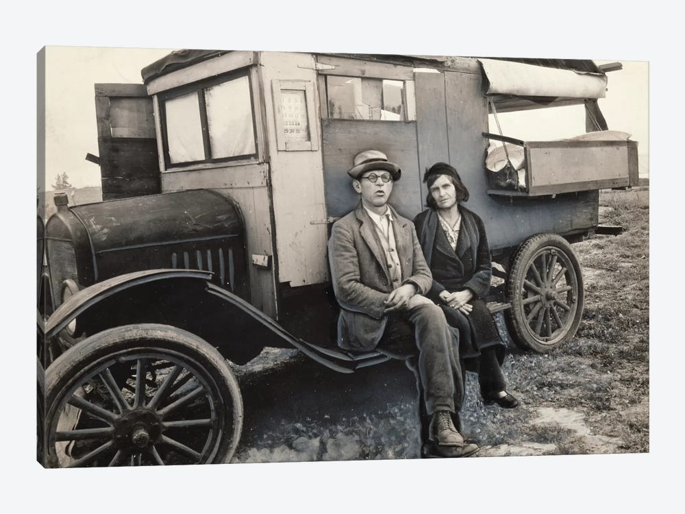 Pea Pickers In California (Mam, I've Picked Peas From Calipatria to Ukiah.  This Life Is Simplicity Boiled Down) by Dorothea Lange 1-piece Canvas Wall Art