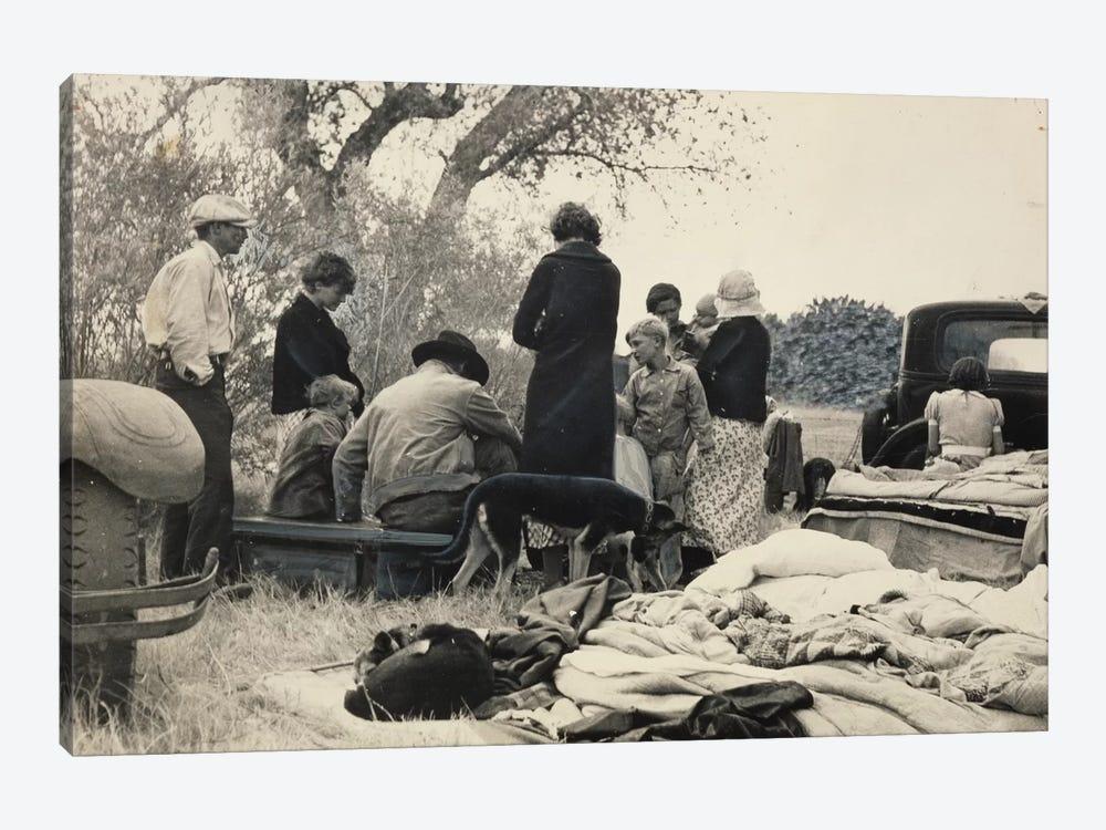 Penniless Oklahoma Refugees Along The Highway, Near Bakersfield, California, USA by Dorothea Lange 1-piece Canvas Art Print