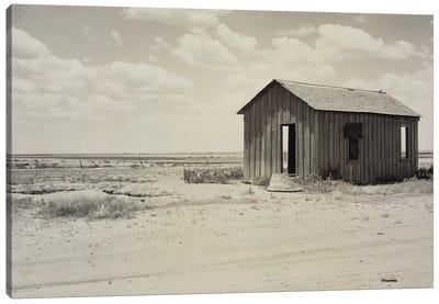 Drought-Abandoned House On The Edge Of The Great Plains, Hollis, Oklahoma, USA Canvas Art Print