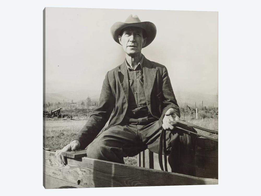 Ex-Nebraska Farmer Turned Cut-Over Area Land Developer, Bonner County, Idaho, USA by Dorothea Lange 1-piece Art Print