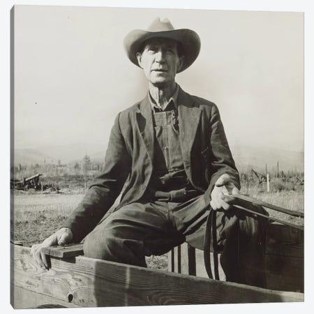 Ex-Nebraska Farmer Turned Cut-Over Area Land Developer, Bonner County, Idaho, USA Canvas Print #DLA3} by Dorothea Lange Art Print