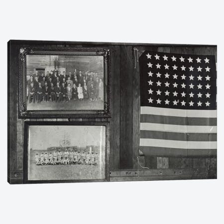 Interior View, Japanese-American Citizens League Headquarters, Centerville, California, USA Canvas Print #DLA4} by Dorothea Lange Canvas Artwork