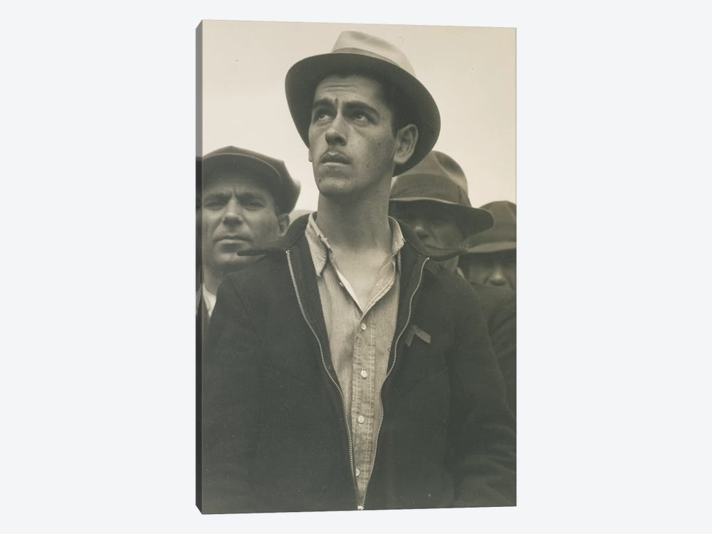 Man At A Street Meeting, San Francisco, California, USA by Dorothea Lange 1-piece Canvas Artwork