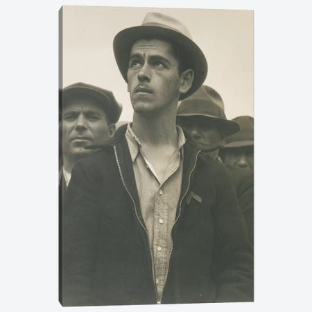 Man At A Street Meeting, San Francisco, California, USA Canvas Print #DLA6} by Dorothea Lange Canvas Artwork