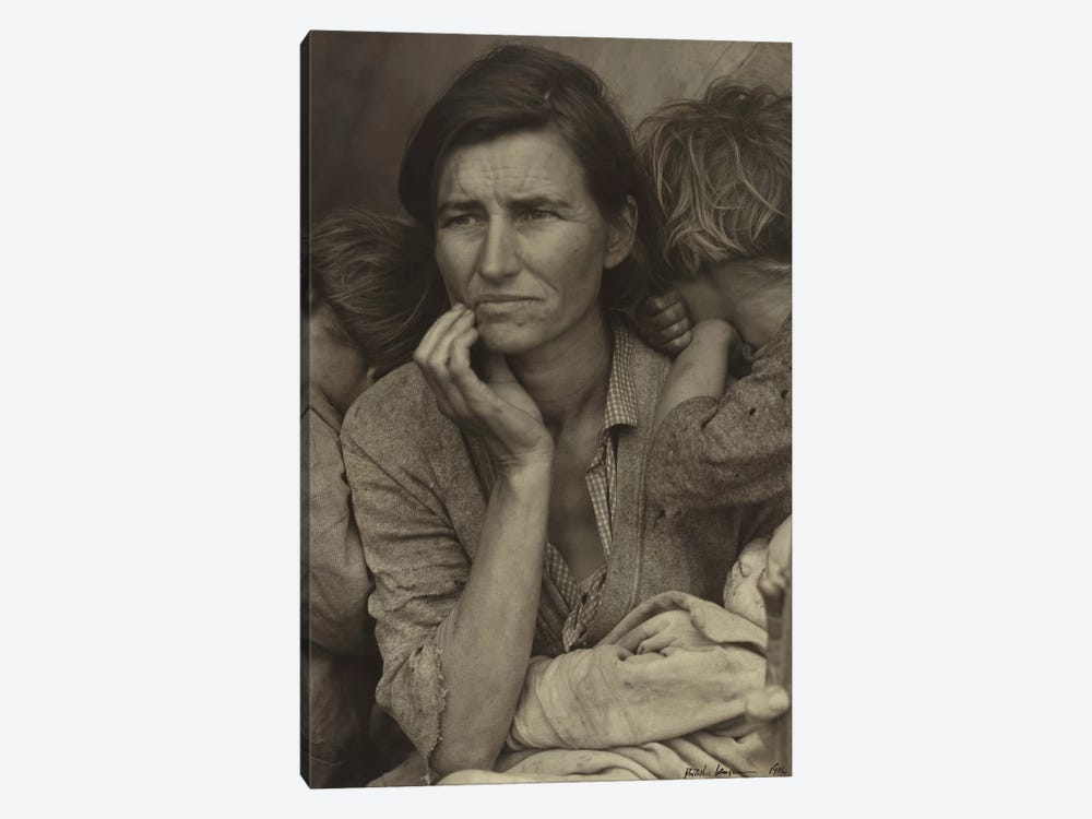 Migrant Mother, Nipomo, California, USA by Dorothea Lange 1-piece Canvas Artwork