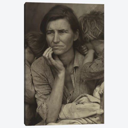 Migrant Mother, Nipomo, California, USA Canvas Print #DLA8} by Dorothea Lange Canvas Art Print