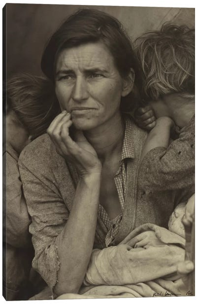 Migrant Mother, Nipomo, California, USA Canvas Art Print