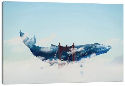 Whale Watching In San Fran Canvas Art Print
