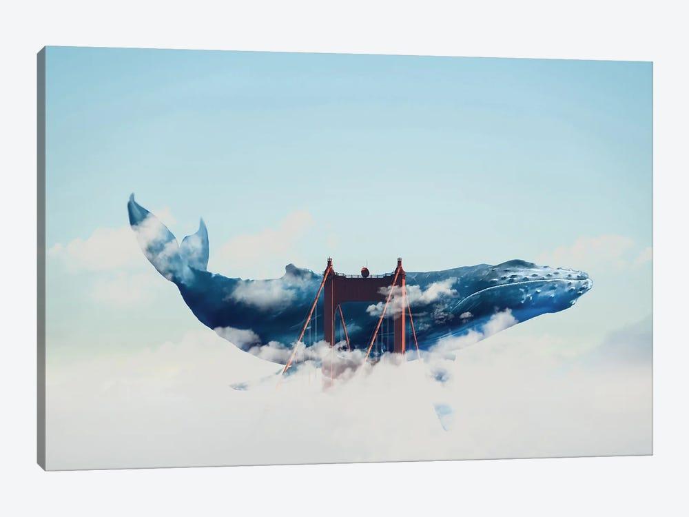 Whale Watching In San Fran by David Loblaw 1-piece Canvas Wall Art