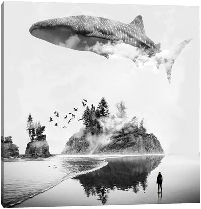 Whale Shark Island Canvas Art Print