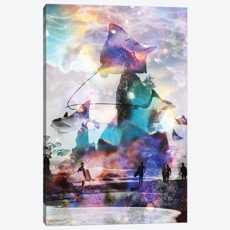 Tripping Out At Rays Point Canvas Print #DLB103} by David Loblaw Canvas Artwork