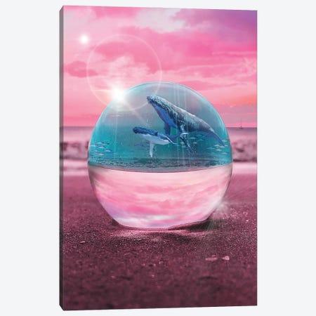 Crystal Beach Whale Watching Canvas Print #DLB115} by David Loblaw Canvas Art