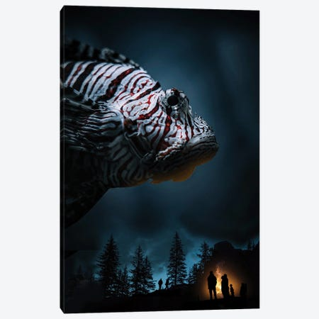 Night Krowler Canvas Print #DLB125} by David Loblaw Art Print