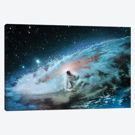 Galatic Surfer Canvas Print #DLB130} by David Loblaw Art Print