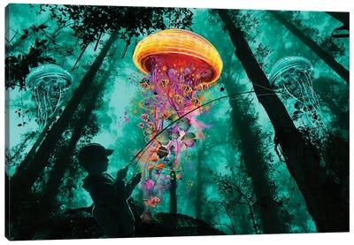Jelly Fishing Canvas Art Print