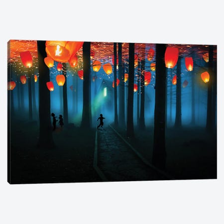 They Came At Night Canvas Print #DLB15} by David Loblaw Canvas Art Print