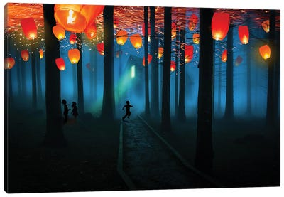 They Came At Night Canvas Art Print