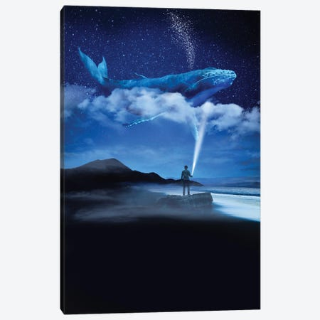 Night Whale Canvas Print #DLB21} by David Loblaw Canvas Art Print