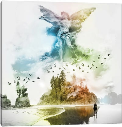 Angel In The Mist Canvas Art Print