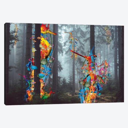 Forest Of Sea Creatures Canvas Print #DLB2} by David Loblaw Canvas Artwork