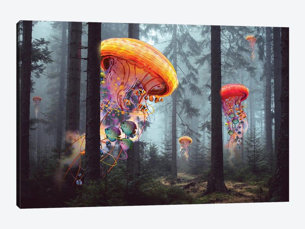 Electric Jellyfish Forest by David Loblaw 1-piece Canvas Artwork
