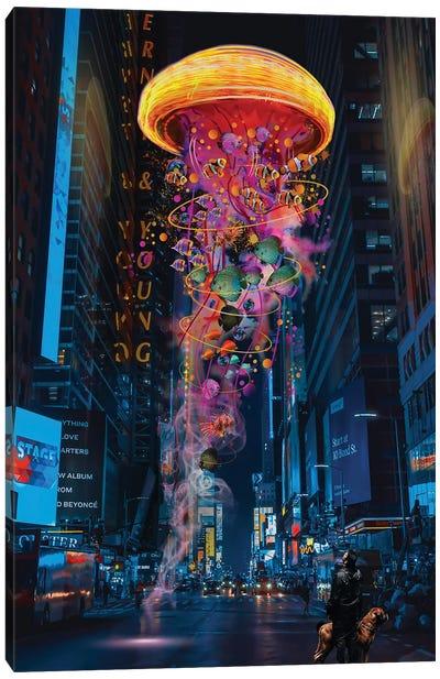 Electric Jellyfish In Newyork Canvas Art Print