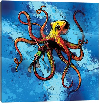 Octopus From The Deep Canvas Art Print