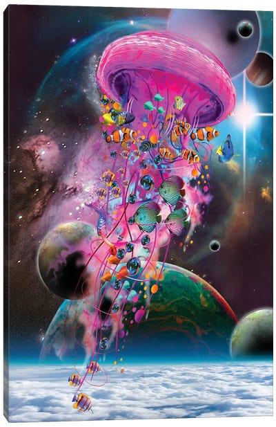 Pink Electric Jellyfish Canvas Art Print