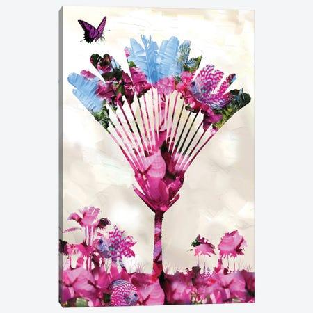 Pink In Palm Canvas Print #DLB50} by David Loblaw Canvas Artwork