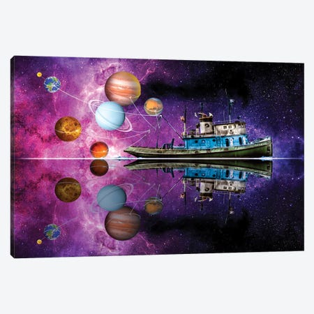 Planetary Pull Canvas Print #DLB51} by David Loblaw Canvas Wall Art
