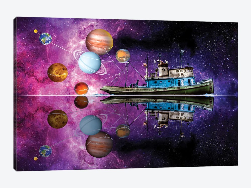Planetary Pull by David Loblaw 1-piece Art Print