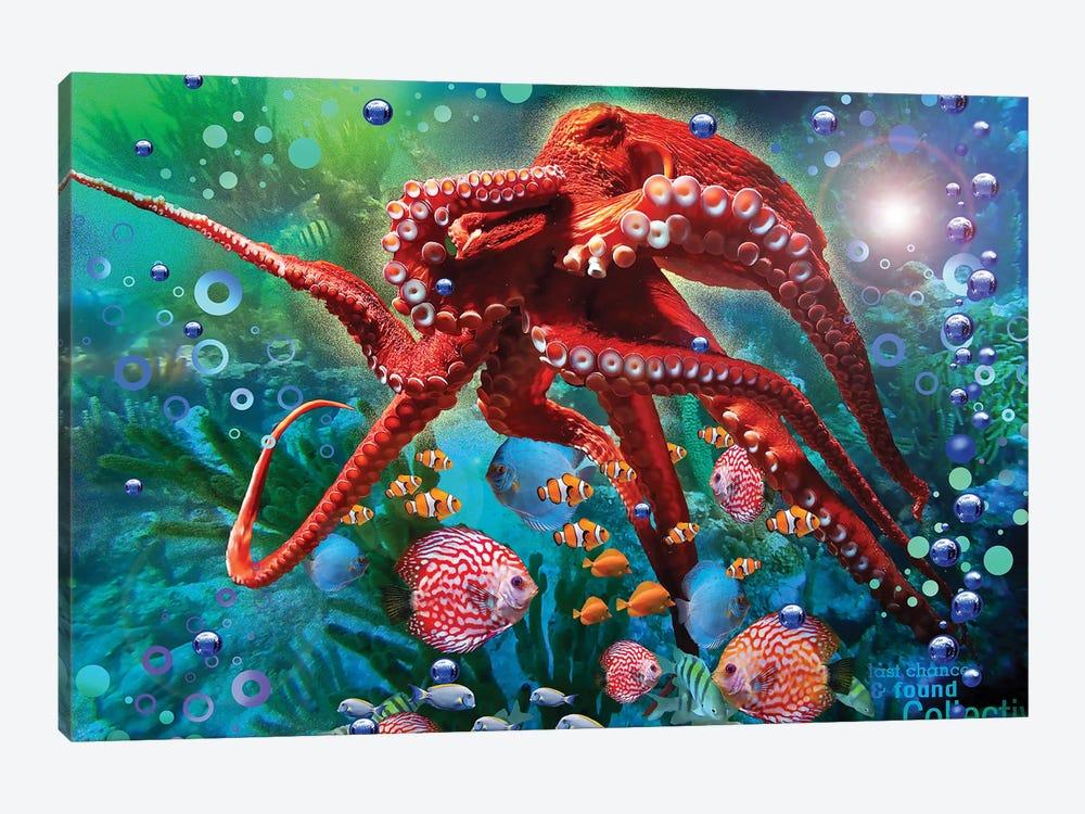 Red Octopus by David Loblaw 1-piece Art Print