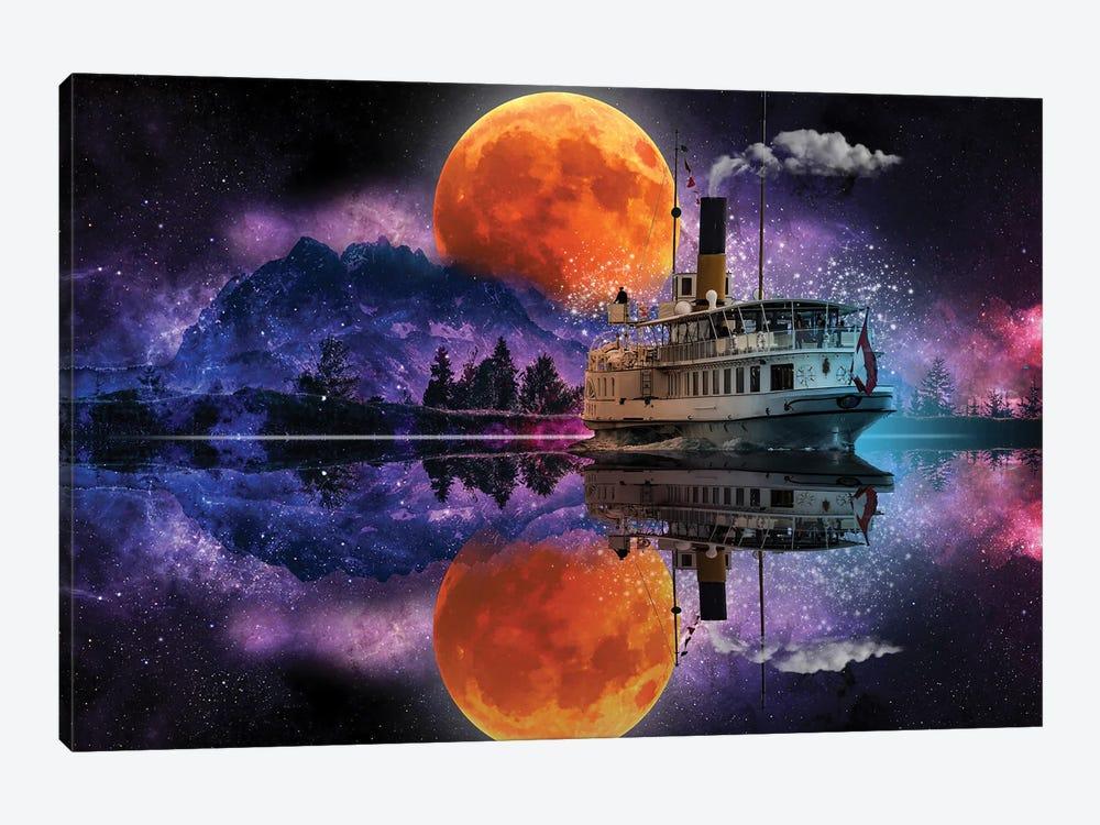 River Boat Fantasy by David Loblaw 1-piece Canvas Art Print