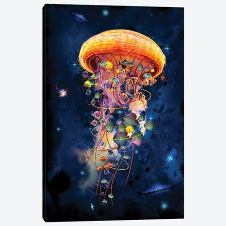Electric Jellyfish Worlds Galaxys Canvas Print #DLB60} by David Loblaw Art Print