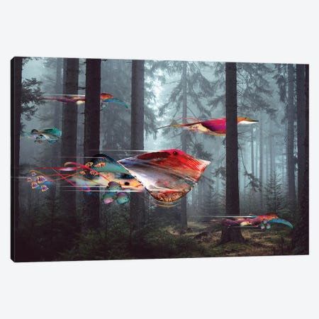 Electric Stingray Forest Canvas Print #DLB65} by David Loblaw Canvas Art
