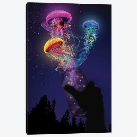 Jellyfish Out Of A Jar Canvas Print #DLB72} by David Loblaw Canvas Artwork