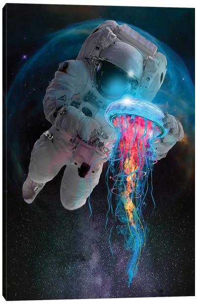 Space Jellyfish Canvas Art Print