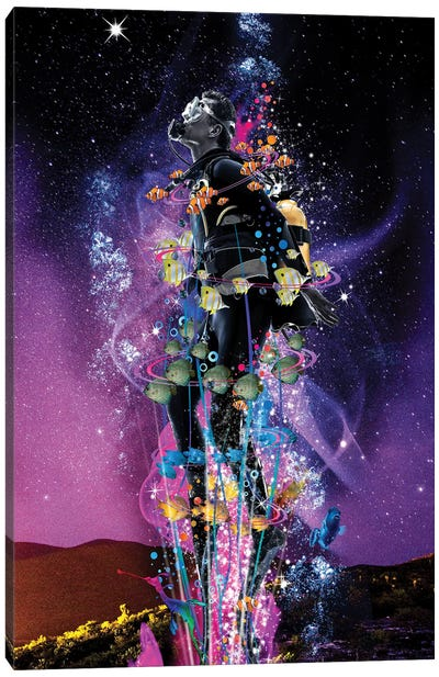 Star Diver Canvas Art Print