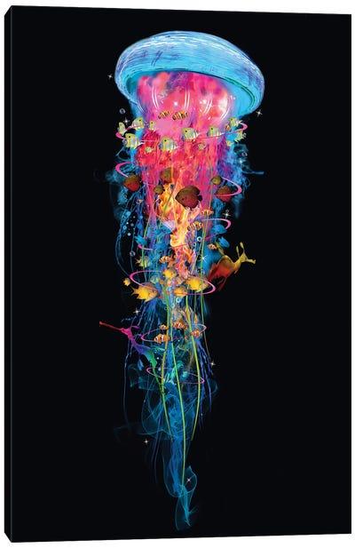Super Electric Jellyfish World Canvas Art Print
