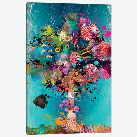 Surfing Palm Canvas Print #DLB86} by David Loblaw Canvas Wall Art