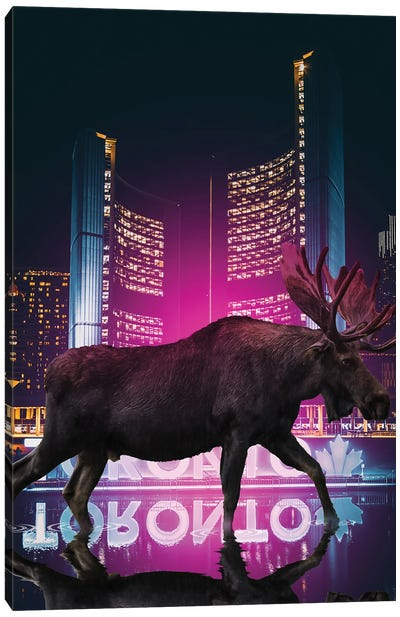 The Moose Is Loose Canvas Art Print